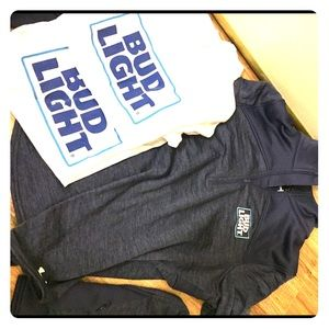 Bud light sweater and T-shirt's